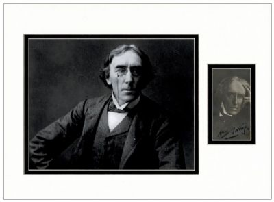 Henry Irving Autograph Signed Photo Display